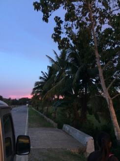 Verspätung, aber mit Sonnenuntergang
