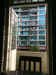 Blick vom hoteleigenem Restaurant