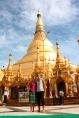 Die berühmte Shwedagon Pagode