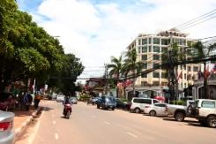 In den Straßen von Vientiane
