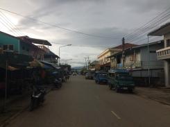 Die laotische Grenzstadt Ban Houayxay