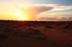 Sonnenaufgang über den Dünen von Mui Ne