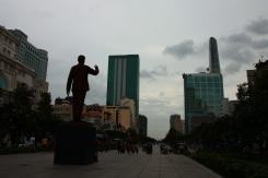 Die Statue von Onkel Ho