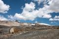 Der Wanderweg zum Gletscher in über 5.000 m Höhe
