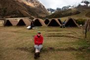 Das erste Camp auf unserer Salkantay-Wanderung