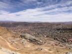 Sicht auf Potosi von der Mine