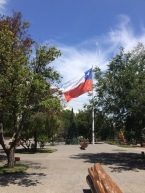 Der Hauptplatz von Pucón