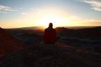"Das ""Valle de la Luna"" bei Sonnenuntergang"