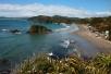 Blick auf den Strand von Puñihuil
