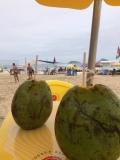 Kokosnuss an der Copacabana.