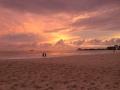 Sonnenuntergang an der Copacabana.
