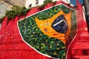 """Wandgemälde bei den """"Escalera de Selarón""""."""