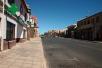 Die Straßen von Lüderitz am Samstagmittag