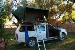 Unterkunft in Namibia mit Blick auf unser nächstes Ziel: Südafrika